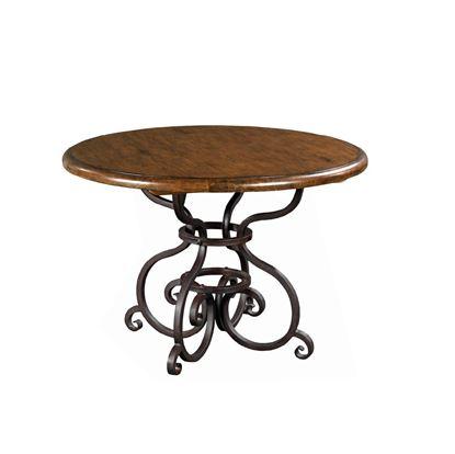 Round Table w/ metal base - Tobacco