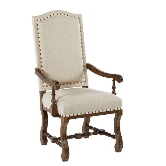 Tobacco Upholstered Arm Chair
