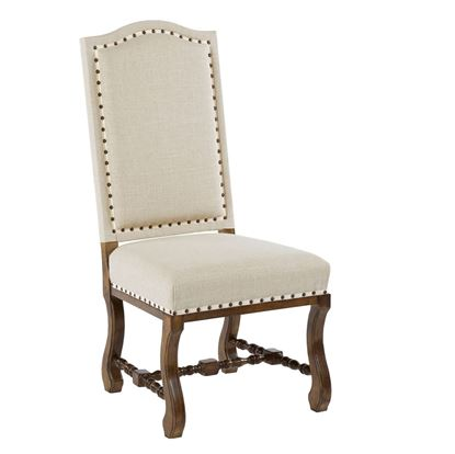Tobacco Upholstered Side Chair