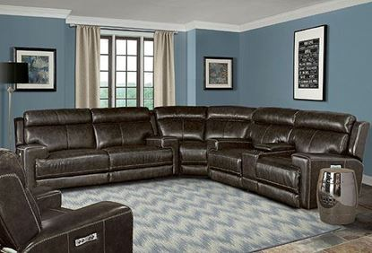 Glacier Leather Sectional