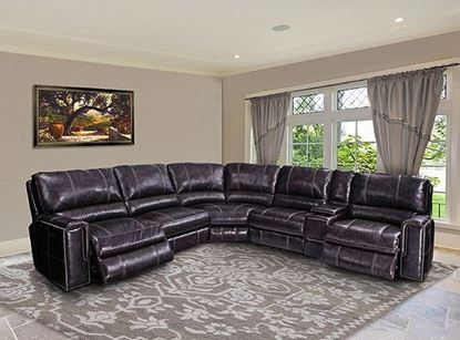 Salinger Twilight Leather Sectional