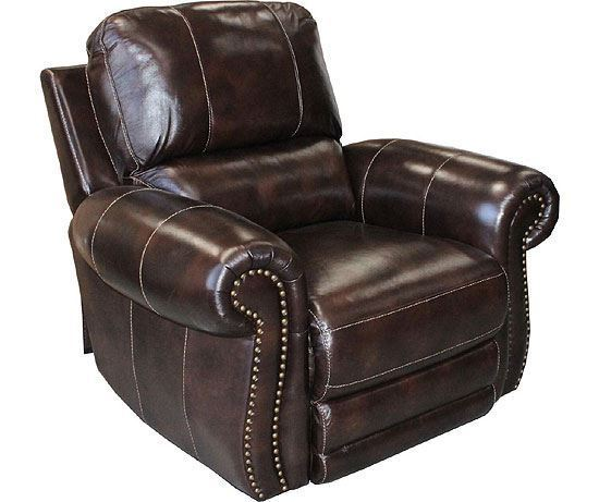 Thurston Havana Leather Recliner