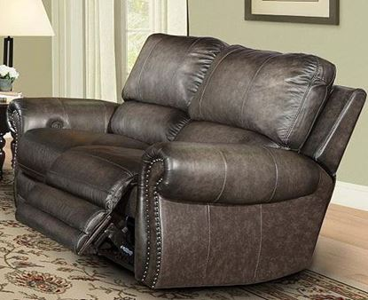 Thurston Havana Leather Loveseat