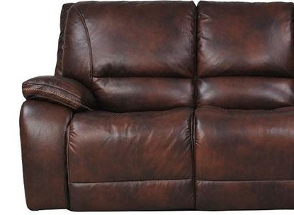 Vail Burnt Sienna Leather Loveseat