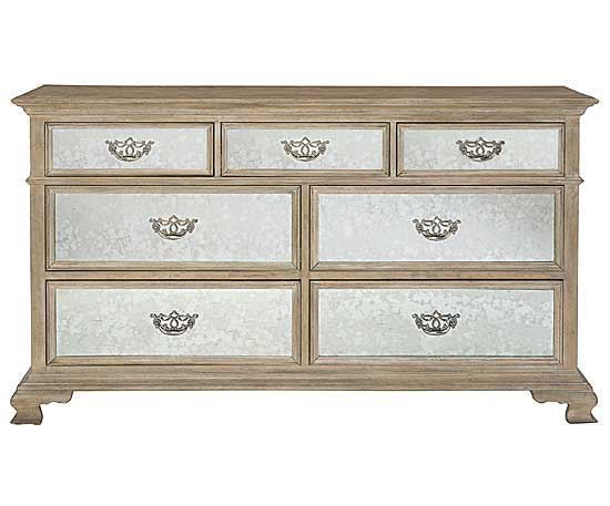 Campania Dresser w/ Mirrored Drawer Fronts
