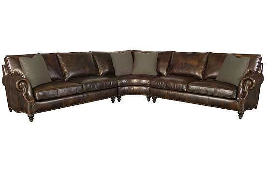 Fleming Leather Sectional
