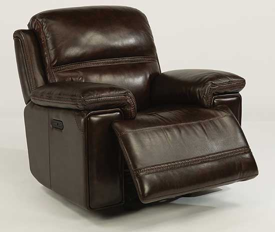 Fenwick Leather Power Gliding Recliner
