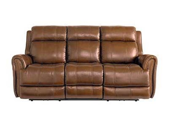Marquee Umber Leather Sofa