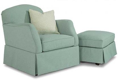 Mabel Swivel Chair & Ottoman