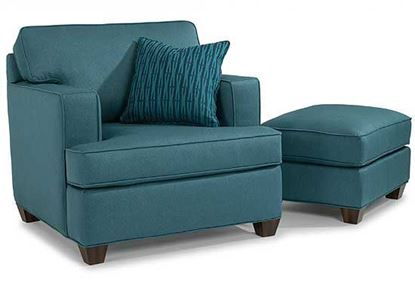 Pierce Fabric Chair & Ottoman