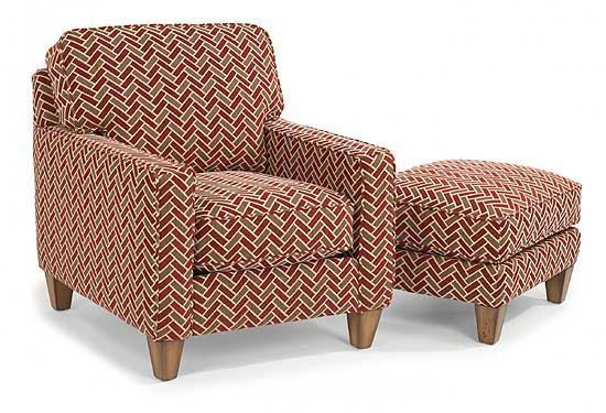 MacLeran Fabric Chair & Ottoman