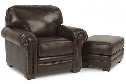 Harrison Leather Chair & Ottoman