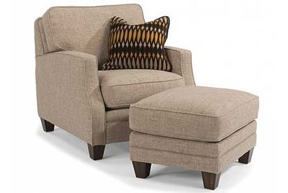 Lennox Fabric Chair & Ottoman