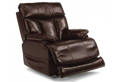 Flexsteel - Clive Power Leather Recliner