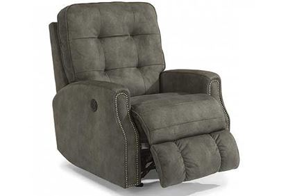 Devon Power Recliner with Nailhead Trim