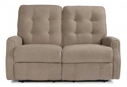 Devon Reclining Leather Loveseat