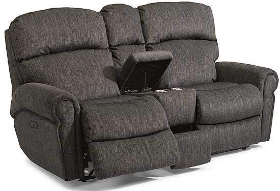 Langston Reclining Loveseat with Console