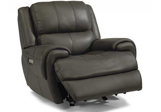 Nance Gliding Leather Recliner with Power Headrest