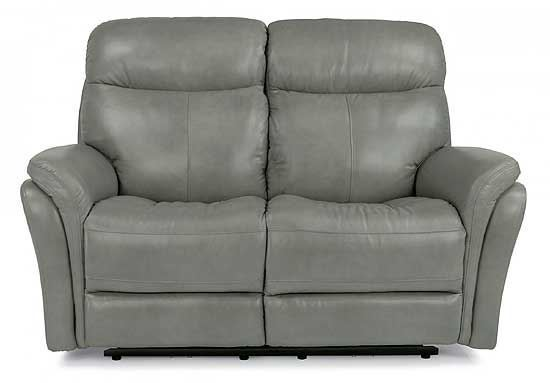 Zoey Power Reclining Leather Loveseat