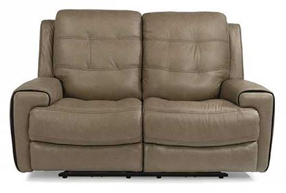 Wicklow Power Gliding Leather Loveseat