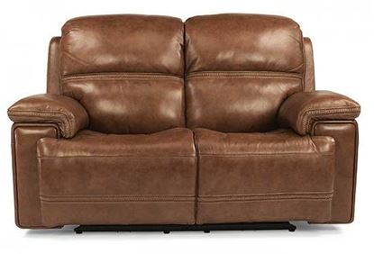 Fenwick Power Reclining Leather Loveseat