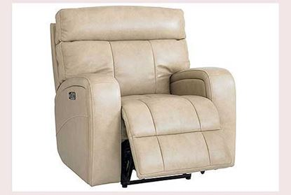 Beaumont Leather Recliner in Almond Color