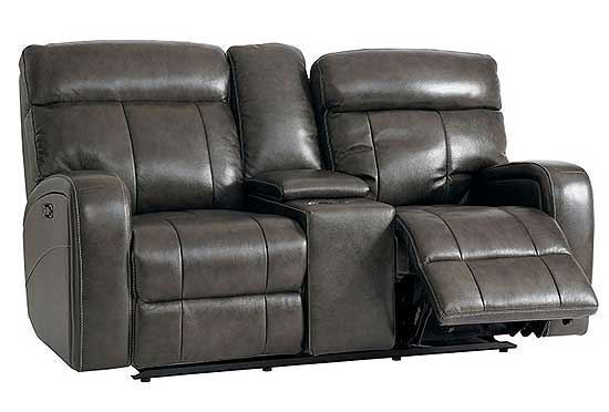 Beaumont Leather Reclining Loveseat
