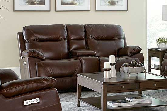 Epic Leather Console Sofa - Club Level