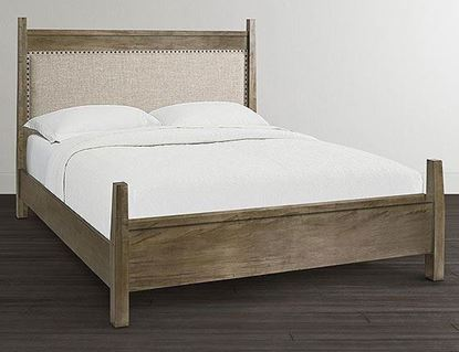 ench*Made Maple Upholstered Panel Bed