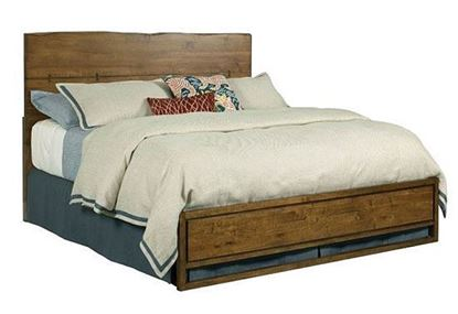 Live Edge Craftsman Bed with Penal Footboard