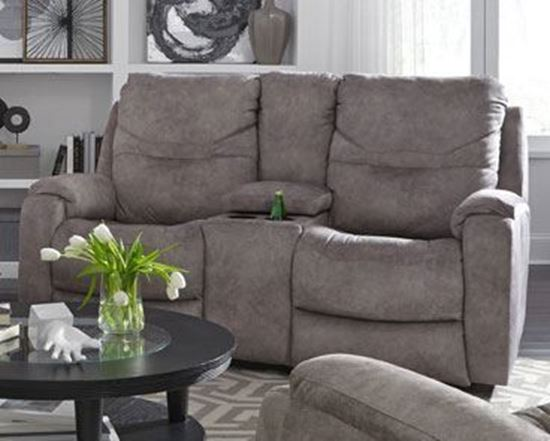 royal flush loveseat with console