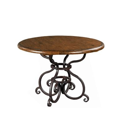 Picture of Artisans Shoppe Round Dining Table with Metal Base (Tobacco)