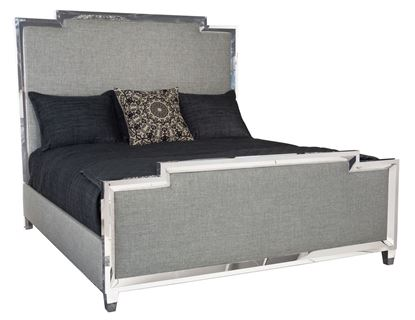 Picture of Criteria Metal Upholstered Panel Bed