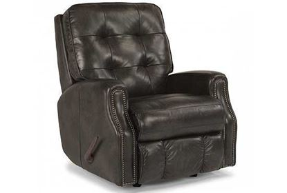 Devon Swivel Gliding Leather Recliner  3881-53