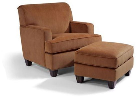 Dempsey Fabric Chair & Ottoman