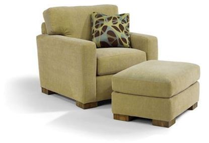 Flexsteel Bryant Fabric Chair & Ottoman