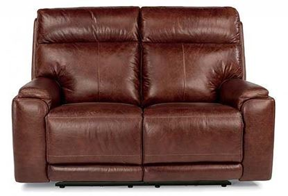 Sienna Power Reclining Leather Loveseat