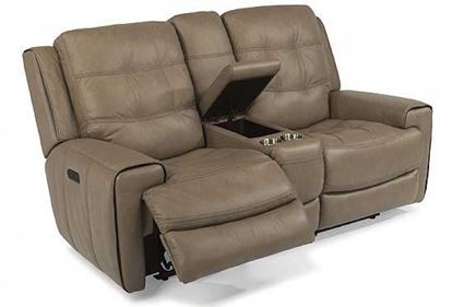 Wicklow Power Reclining Loveseat with Console