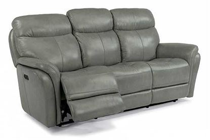 Zoey Power Reclining Leather Sofa