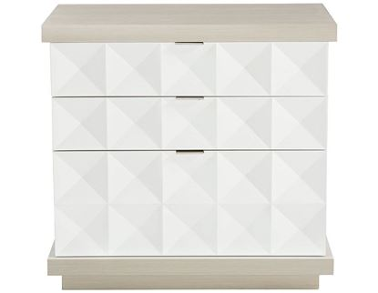 Axiom Nightstand with Cast Overlays on each drawer front