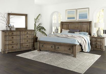 Rustic Hills Bedroom in a Saddle Gray finish