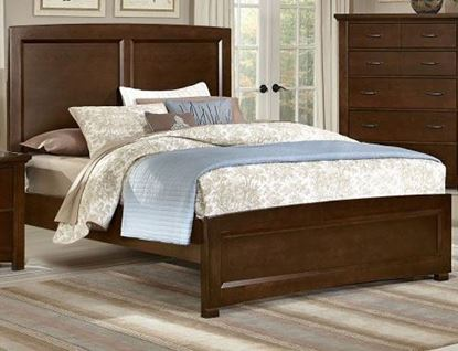 Transitions Panel Bed with a Dark Cherry finish