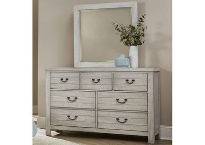 Urban Crossing 7 Drawer Dresser with a Cloud 9 finish