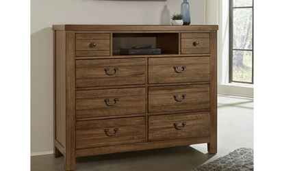 Urban Crossing Media Chest with an Iced Tea finish