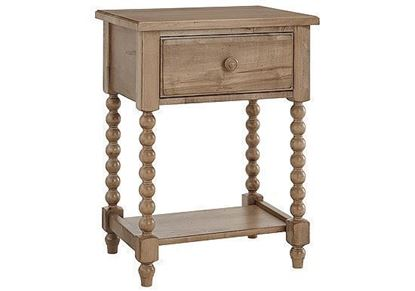 Scotsman American Heirloom Leg Night Table in a Natural Maple finish
