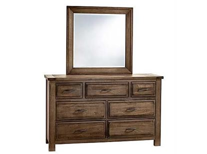 Maple Road Triple Dresser with Mirror in a Maple Syrup finish