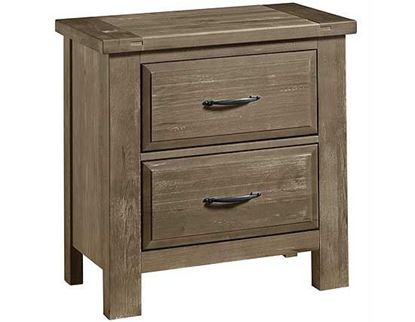 Maple Road Nightstand in a Weathered Grey finish