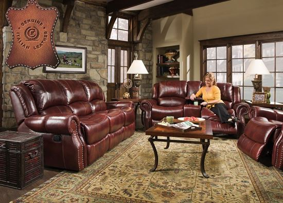 Softie Oxblood Sofa & Glider Loveseat