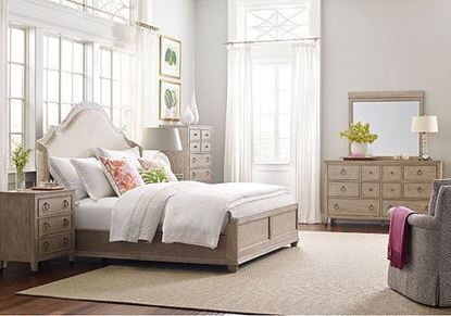Vista Bedroom collection with Upholstered Shelter Bed