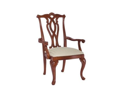 Cherry Grove Pierced Back Arm Chair (792-637)